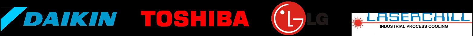 Daikin Toshiba LG Laserchill logos